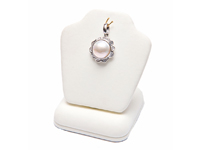mabe pearl pendant in silver